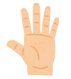 指先や指の横に小さいブツブツ