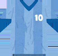 サッカーのユニフォームのイラスト