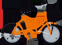 自転車のイラスト