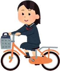 自転車に乗っているイラスト