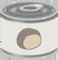 トリュフの缶詰のイラスト