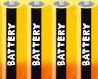 単三電池のイラスト