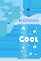 冷却スプレーのイラスト
