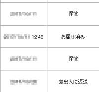 日本郵便の追跡情報ではお届け済みになっている