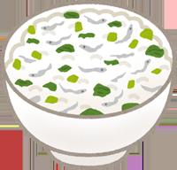 混ぜご飯のイラスト