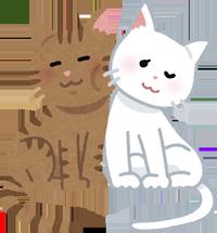 じゃれ合う猫のイラスト