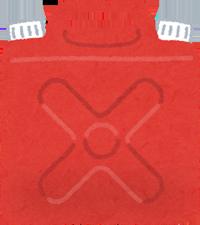赤いポリタンクのイラスト