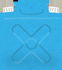 青いポリタンクのイラスト