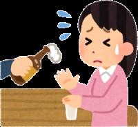 お酒が飲めない人のイラスト
