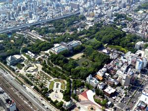 少し前の天王寺動物園の空中写真