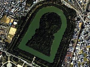 仁徳天皇陵の航空写真