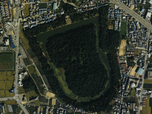 応神天皇陵の航空写真
