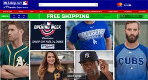 メジャーリーグ公式通販サイトのスクリーンショット
