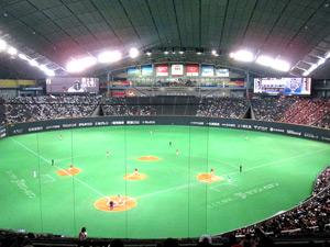 球場の広さランキング1位の札幌ドームの写真
