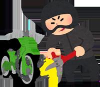 自転車泥棒のイラスト