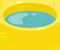 お湯を張った風呂桶のイラスト