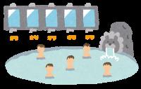 ホテルの大浴場のイラスト
