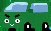 ワンボックスカーのイラスト
