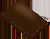 牛革か山羊革の財布のイラスト