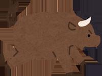 牛革のブルのイラスト