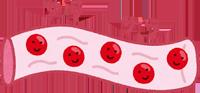 サラサラな血液のイラスト