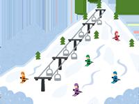 スキー場のイラスト