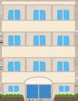 鉄筋コンクリートのマンションのイラスト