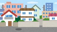 住宅地のイラスト