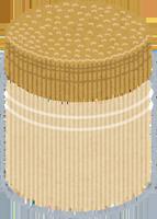 大量の爪楊枝のイラスト