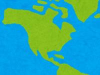 北米(アメリカやカナダ)のイラスト