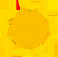 太陽の直射日光のイラスト