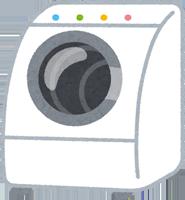 ドラム式洗濯機のイラスト
