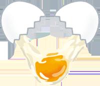生卵のイラスト