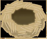 巣作りで作った巣のイラスト