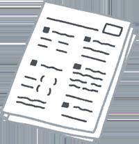 公文式のプリントのイラスト