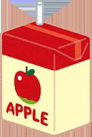 リンゴジュースのイラスト