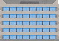 国税庁が入る集合庁舎のイラスト