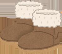 山羊革のスエードのブーツのイラスト