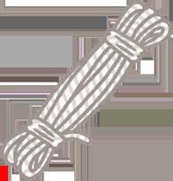 夏祭りの輪投げの輪を作る荷造り用のロープのイラスト
