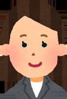 面長の顔の女性のイラスト