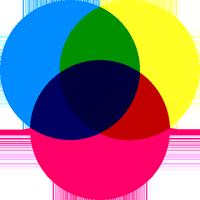 色の三原色のイラスト