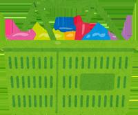 スーパーの買い物かごのイラスト