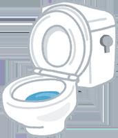 トイレの便座の裏のイラスト