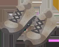 汚れた靴のイラスト