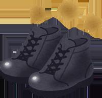 脱いだ安全靴のイラスト