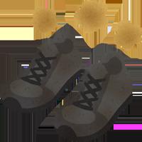 蒸れた安全靴のイラスト