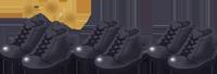 交換して履くために3足用意した安全靴のイラスト