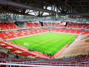 ワールドカップ終了後観客収容人数が5位のスパルクスタジアムの観客席の写真