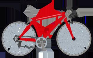 ロードバイクのイラスト