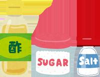 すし酢の材料のイラスト